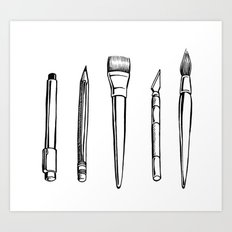 tools of the trade Art Print