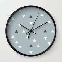 skiing Wall Clocks featuring TRY ANGLES / alpine skiing by DANIEL COULMANN