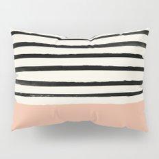 Peach x Stripes Pillow Sham