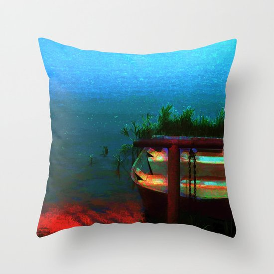 Rusty Boat Throw Pillow