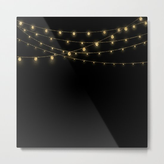 Gold rich Glitter Chain- Treasure Sparkle Metal Print