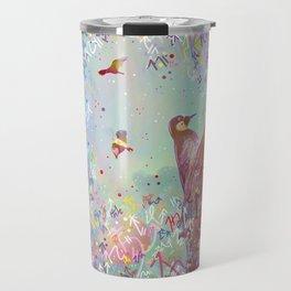Curious Woodpecker and Friends Travel Mug