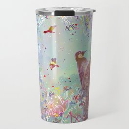Curious Woodpecker and Friends Travel Mug