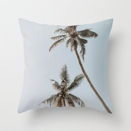 two palm trees Throw Pillow