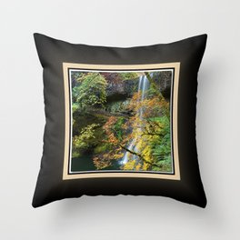 Lower South Falls West View, Silver Falls Oregon Series 2 of 2 Throw Pillow