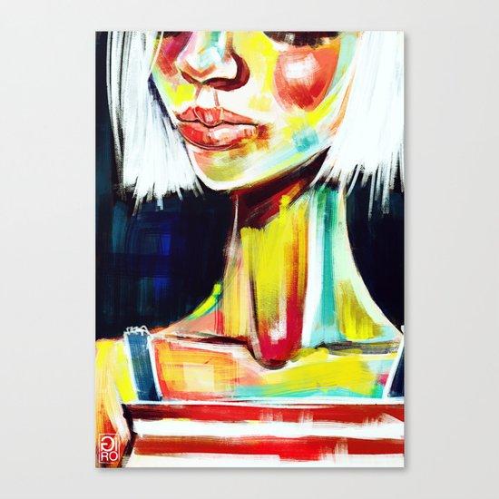 """Glowing 7"" Canvas Print"