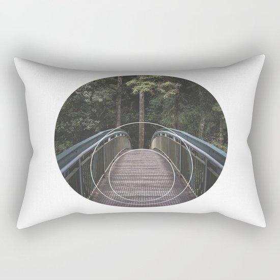Circular Bridge - Geometric Photography Rectangular Pillow