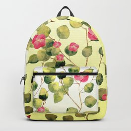 """""""Spring pink flowers and leaves"""" Backpack"""