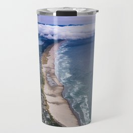 A Crescent Shaped Beach From High Atop Neahkahnie Mountain in Oswald West State Park, Oregon Travel Mug