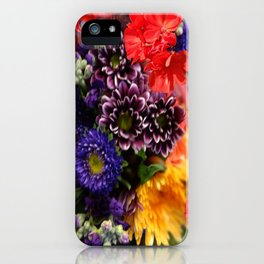 red geraniums flowers floral bouquet iPhone Case