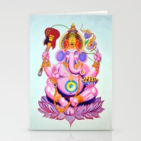 ganesh Stationery Cards featuring Ganesh by Jared Bretholtz