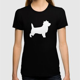 Cairn Terrier dog breed grey and white dog pattern pet dog lover minimal T-shirt