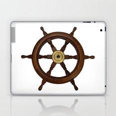 old oak steering wheel for ship or boat Laptop & iPad Skin