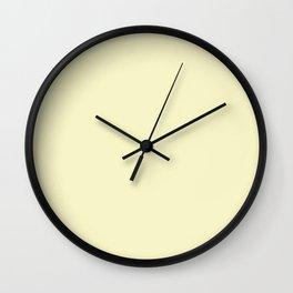 Light yellow. Wall Clock