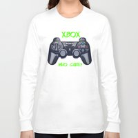 xbox Long Sleeve T-shirts featuring Ps vs xbox by BAS~