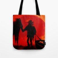 django Tote Bags featuring Django by IOSQ