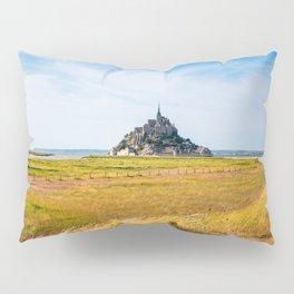 View of Mont Saint Michel against sky Pillow Sham