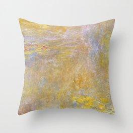 Sea-Roses (Yellow Nirwana) by Claude Monet Throw Pillow