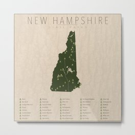 New Hampshire Parks Metal Print