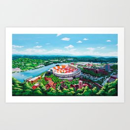 Aerial Neyland Art Print