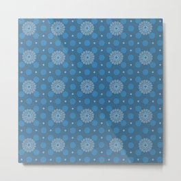 CHAMBRAY GEOMETRIC Metal Print