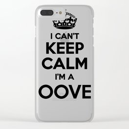 I cant keep calm I am a HOOVER Clear iPhone Case