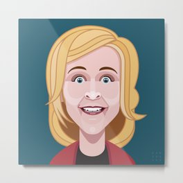 Comics of Comedy: Maria Bamford Metal Print