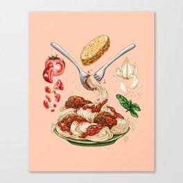 Spaghetti Mandala Canvas Print