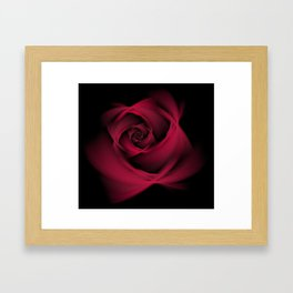 Abstract Rose Burgundy Passion Framed Art Print