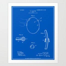 Hula Hoop Patent - Blueprint Art Print