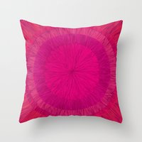 pulp Throw Pillows featuring Pulp Passion by Anchobee