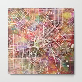 Dallas map 2 Metal Print