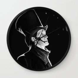 The Doctor in the Snow Wall Clock