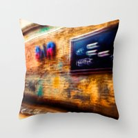 bar Throw Pillows featuring Bar by ganjalex