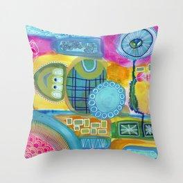 Stream of Consciousness Throw Pillow