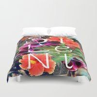 silent Duvet Covers featuring Silent by tomthebigbear