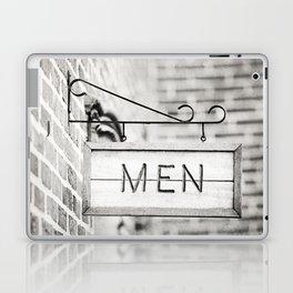 Men Bathroom Sign, Men's Restroom Laptop & iPad Skin