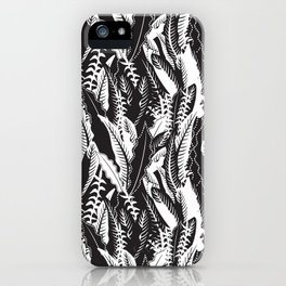 Inner Jungle in Black and White iPhone Case