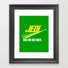 Brand Wars: Jedi - green lightsaber Framed Art Print