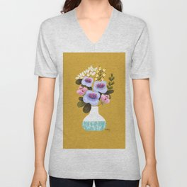 Earth Day Bouquet Unisex V-Neck