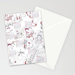 Calendar mess Stationery Cards