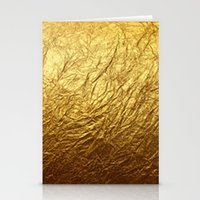 gold foil Stationery Cards featuring Gold Foil by digital detours