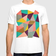 Geometric Love II Mens Fitted Tee MEDIUM White