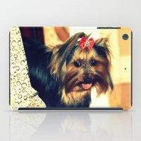 yorkie iPad Cases featuring D's Yorkie puppy by Irène Sneddon