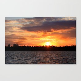 Migrating sunset Canvas Print