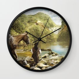 El dorado Wall Clock