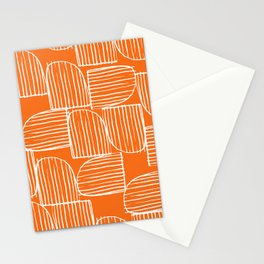 Mid-Century Modern 1950's Orange Juice Mimosa Colored Abstract Stationery Cards