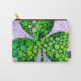 Green Shamrock Art by Sharon Cummings Carry-All Pouch