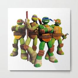 Ninja Turtles - Teenage Mutant Metal Print