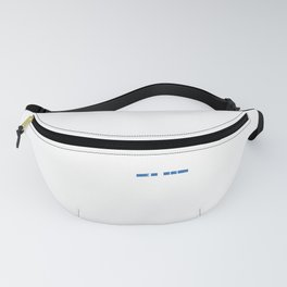 Blue Police Officer Military Policeman Cop Gift Fanny Pack